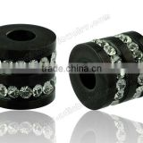 Many Clear Stone Expander Surgical Black Ear Flesh Tunnels