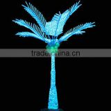 Home garden decorative 200cm Height outdoor artificial green flashing LED solar lighted up coconut palm trees                                                                         Quality Choice