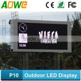 P10 outdoor full color led backlit display panel sign