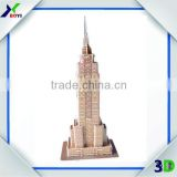 2014 Promotional Customized World Famous Architecture Model Toy Educational 3D Puzzle Games