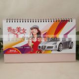 2014 hot sale print spiral table calendar