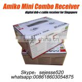 Amiko mini combo hd dvb-c cable receiver for Singapore starhub hd receiver