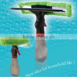 As Seen TV Silicon Wiper Blade Glass Cleaner Window Spray Squeegee 2 in 1 Water Brush