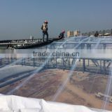 Large Span clear ETFE film tensile fabric architecture roof system for stadium building and commercial architecture