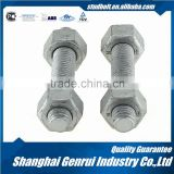 Different Types Astm A193 Gr B7 Dacromet Stud Bolt With 2h Heavy Hex Nut