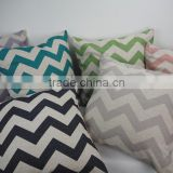 Decorative zigzag printed 18inch pillow cover Throw coccyx pillow