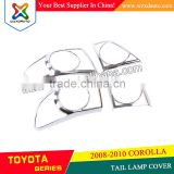 SET CHROME REAR TAIL LIGHT LAMP COVER TAIL LAMP COVER FOR TOYOTA COROLLA 2008-2010