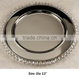 Hot sale wedding crystal charger plate, crystal charger plate