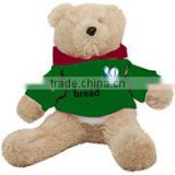 embroidery imprinted promotional logo green coat Hoodie Bear dress scarf beanbag bandana t-shirt bib tie ribbon animal toys