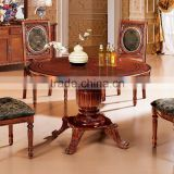 round dining table with leather chairs / wood round chinese dining table / round expandable dining table