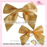 Proccess satin ribbon bow wine bottle ribbon bow with elastic bow tie packaging bow tie boxes