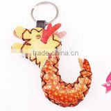 High quality little genuine leather animal keychain handmade leather keychain for promotional gift