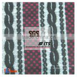 Hot sale Polyester viscose two layer / double gauze fabric knit jacquard TR fabric knit jersey jacquard fabric