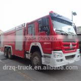 Reliable fire truck! Sinotruk HOWO standard specification 12CBM 400hp 6*4 water tank fire truck