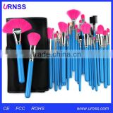 2016 Wholesale go pro custom private label long hair makeup brush sets makeup sets, make up brushes, beauty makeup tools