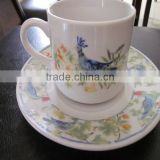 antique square ceramic chinese tea cups, wholesale white porcelain custom printed ceramic tea cups and saucers