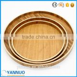 Natural Wooden tea Dish, pizza Fruit Tray, small and Big wood Plate