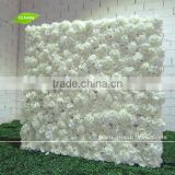 GNW FLW1507-1 Guangzhou factory white fake fabric flower wall wedding backdrops for sale