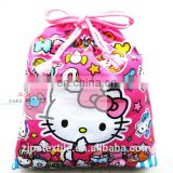 Kit cat cartoon printing shopping buggy bag,can be customized
