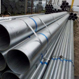 Galvanized steel pipe for reduced pressure liquid shipment such as water