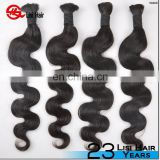 European Virgin Hair Kinky Curly Bulk Hair For Braiding Kinky Curly Hair Bulk No Attachment Natural Black