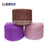 1/11NM Glittery MH type polyester metallic yarn for 5GG 7GG flat machine knitting or hand