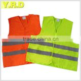 Yellow color with high quality warning vest , safety vest