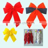 "2016 Decorate gift box with butterfly bow, 5"" width velvet ribbon bow tie with double wing"