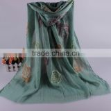Wholesale Colorful Flower Cotton Women Fashion Embroidery Scarf With Tassel                                                                         Quality Choice