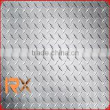 TOP QUALITY aluminum checkered plate with 5 bar diamond-embossed orange skin