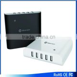 High speed 5V 8A 5 ports usb charger, 40w USB desktop/tablet charger with AC cable for ipad,iphone laptop and tablet