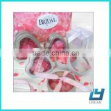 heart shaped chocolate tin box with plastic window