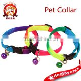 Manufacturers cheap wholesale pet cats and dogs collar necklace bell rainbow ribbon 1.0CM small dog special