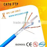 4*2*0.4CCA cat6 FTP copper coated alumium indoor fire-retardant,low smoke non-toxic, water-proof,sewer,overhead lan cable