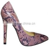 Brand New Purple Snake Design PU 11CM High Heel Shoes Fashion Sexy Women High Heel Snake Skin Shoes