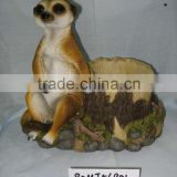 Polyresin Mongoose with planter (garden decoration,handicrafts,animal statues)