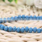 Solid Blue 2mm to 12mm AAA Quality Wholesales Price Loose Jade Crystal Facted Roundelles Glass Beads for Jewelry Cheapest