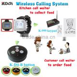 Kitchen Calling Waitress System With Watch With Keypad Call 999 Persons And Durable Call Button Koqi Brand