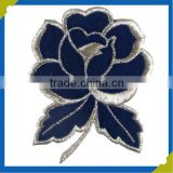 china factory cheap fashion embroidery applique flower patches/ flower embroidery patches for clothing