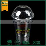 trade assurance round shape food grade transparent PET cup without lid,pp plastic cups,disposable plastic cup