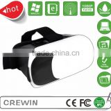 3D Box Virtual Reality Glasses Cardboard Movie Game for IOS Smartphone + Controller Black + White