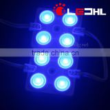 Blue 4 LEDs SMD2835 injection Molding LED Module Yellow Color with 2.4W 200lm 160 degree lens 5 years warranty