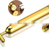 Hotsale 24k Facial Beauty Bar Vibration Bar with gold plated head