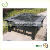 XY-FP-12006 Steel wood burning fire pit manufacture outdoor fire pit 84.5*84.5*35cm