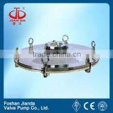 Stainless steel sanitary circular manhole cover with pressure