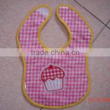 cotton infants & toddlers&children baby bibs customized logo available cake pattern waterproof