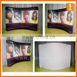 exhibit display hook and loop fabric pop up backdrop stand banner stand 3X3
