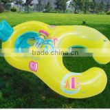 2016 Funny Mother and Baby Inflatable Swim Float Raft Kid's Chair Seat Swimming Ring Pool
