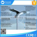 Integrated motion sensor solar street light 15w 12v dc led street lights, solar gate light