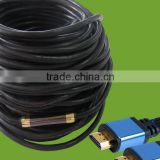up to 50m 24k plated 2.0V male to male HDMI Cable for HDTV, DVD Play, ER Xbox, PS3 and other multimedia